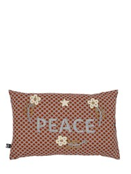 Funky Table Peace Embroidered Cotton Pillow