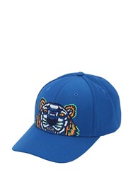 Kenzo Embroidered Techno Canvas Baseball Hat Blue