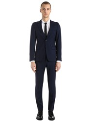 Prada Slim Fit Wool And Mohair Twill Suit Navy
