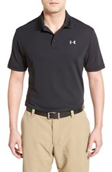 Men's Under Armour 'Performance 2.0' Sweat Wicking Stretch Polo Black