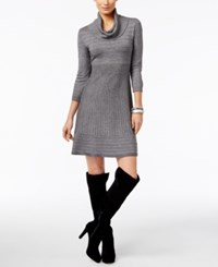 Inc International Concepts Cowl Neck Sweater Dress Only At Macy's Grey