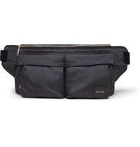 Paul Smith Leather Trimmed Shell Belt Bag Navy