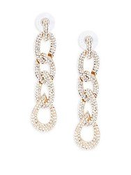Kenneth Jay Lane Couture Collection Cable Link Linear Earrings Gold