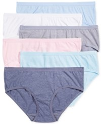 Fruit Of The Loom 6 Pk. Ultra Soft Hipster 6Dpusp1 Blue Collar Fresh Candy Mystic Coral Sinberry