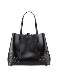 Alaia New Small Lux Laser Cut Tote Bag Black