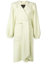 Marc Jacobs Belted Midi Coat Green
