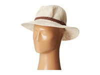 San Diego Hat Company Knh8008 Machine Knit Fedora W Braided Suede Trim Ivory Traditional Hats White
