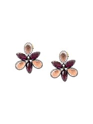 Larkspur And Hawk Bellini Scarlet Orchid Stud Earrings Metallic