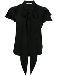 Givenchy Ruffle Sleeve Pussybow Blouse Black