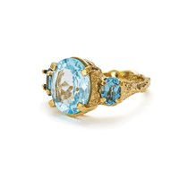 Chupi Dew Drop In The Wild In Swiss Blue Topaz And London Blue Topaz Gold