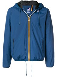 K Way Short Hooded Jacket Blue