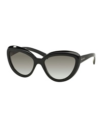 Prada Thick Rim Cat Eye Sunglasses Black