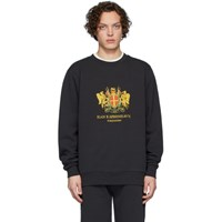 Han Kjobenhavn Black Artwork Crew Sweatshirt