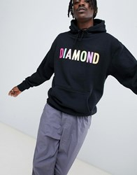 Diamond Supply Co. Colour Pop Logo Hoodie In Black