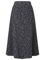 Eastex Texture Jacquard Ponte Skirt Multi Coloured
