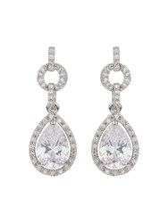 Mikey Oval Stone Linked Drop Earring