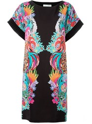 Tsumori Chisato Floral Print Shift Dress Black