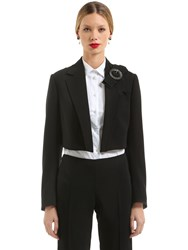 Dolce And Gabbana Cropped Wool Crepe Jacket