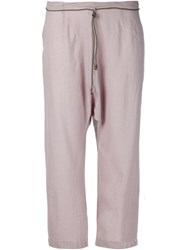 Dosa Cropped Trousers Grey