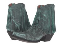 Dan Post Jules Turquoise Vintage Cowboy Boots Green