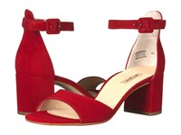 Paul Green Lonnie Heel Red Suede High Heels