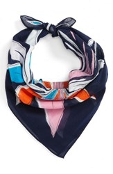 Echo Women's Floral Cotton Scarf Navy