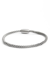 Link Up Stainless Steel Chain Bracelet Silver