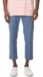 Obey Straggler Flooded Pants Dull Blue