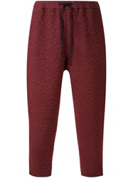 Aganovich Drop Crotch Trousers Red
