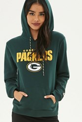 Forever 21 Nfl Packers Fleece Hoodie Green Yellow