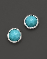 Ippolita Sterling Silver Rock Candy Stud Earrings In Turquoise No Color
