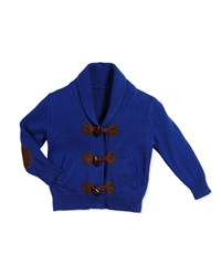 Andy And Evan Shawl Collar Toggle Front Cardigan Blue