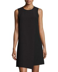 Tahari By Arthur S. Levine Pebble Crepe Sleeveless Shift Dress Black