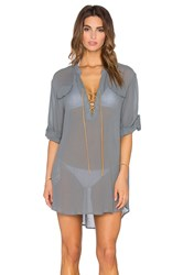 Eberjey Summer Of Love Riley Cover Up Gray