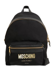 Moschino Medium Couture Logo Nylon Backpack Black