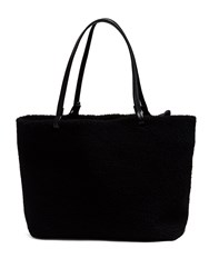 The Row Park Shearling Tote Bag Black