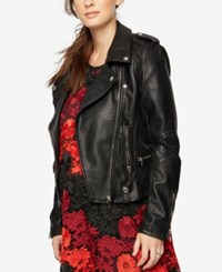 Blank Nyc Maternity Faux Leather Jacket Black