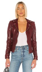 Lamarque Chloe Leather Jacket In Red. Rio Red