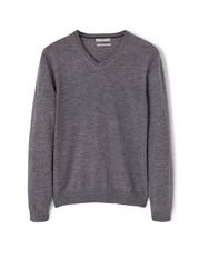 Mango Wool Blend Sweater Grey