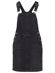 Fat Face Cora Dungaree Dress Black