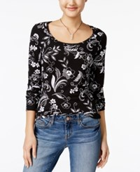 Energie Juniors' Likey Cutout Back Top Dot Floral