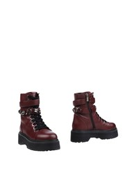 Pinko Ankle Boots Maroon
