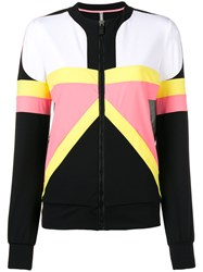 No Ka' Oi Contrast Panel Sports Zip Up Black