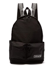 Off White Patch Logo Backpack Black White