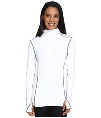 Hot Chillys Micro Elite Chamois 8K Hooded Zip White Women's T Shirt