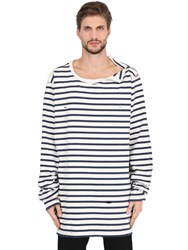 Faith Connexion Oversized Striped Cotton Jersey T Shirt
