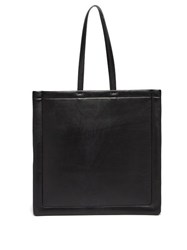 Maison Martin Margiela Outline Padded Leather Tote Bag Black
