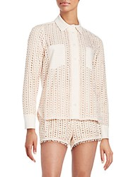 See By Chloe Long Sleeve Button Down Shirt Pink