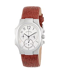 Philip Stein Teslar Classic Rectangle Strap Chronograph Watch Brown