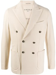 Circolo 1901 Double Breasted Jacket Neutrals